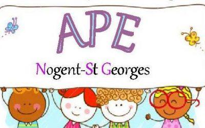 APE, Vente d'objets au profit des enfants Nogent / St Georges